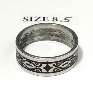 Ring, with Pattern Design, Size 8.5